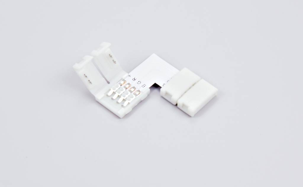 RGB LED strip 90° angle connector, solder-free