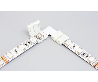 RGB LED strip 90° angle connector