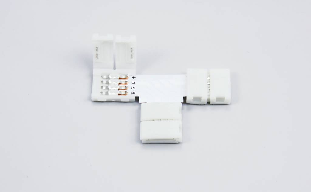 RGB LED strip T-connector, solder-free