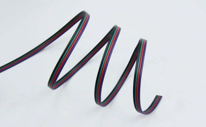 4-wire RGB cable for RGB LED strips, per meter