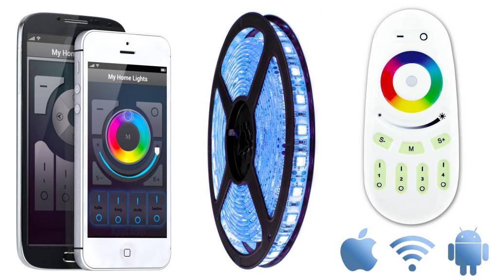 AppLamp Wifi kit + Multicolor LED strip RGB (5m)