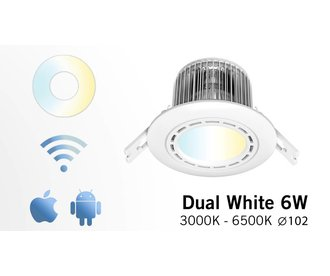 AppLamp LED dimmable wireless downlight 6W, Dual White incl. power supply