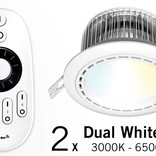 Set of two12 Watt recessed LED downlights + Remote control (86-265V)