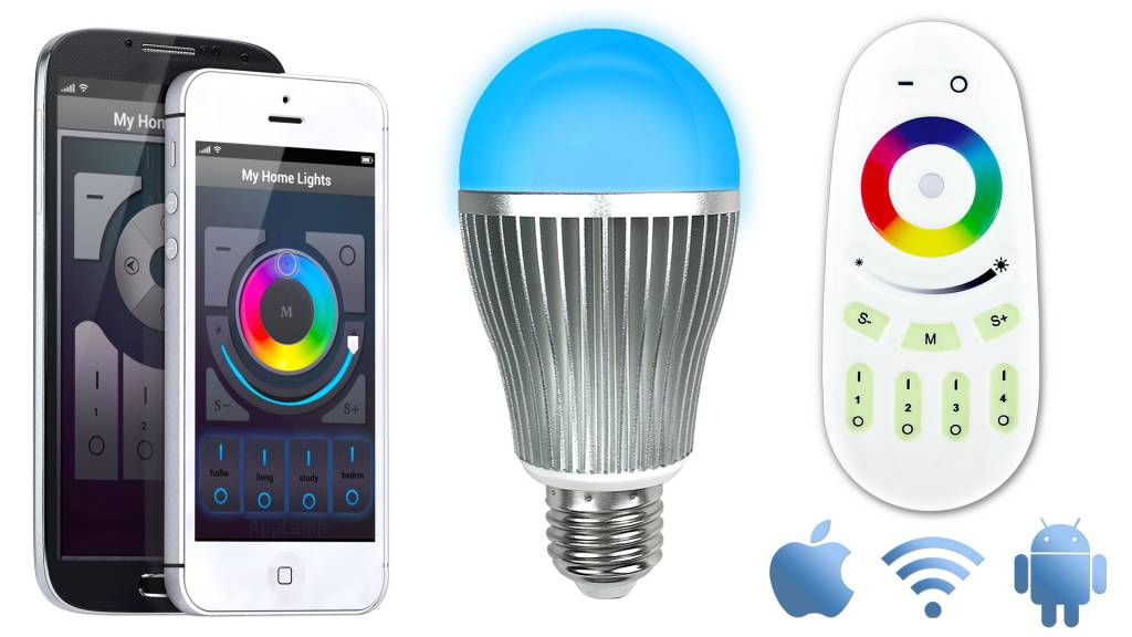 Genial AppLamp Wifi Kit + Full Color 9 Watt RGBW LED Bulb ...