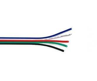 RGBW cable with 5 wires