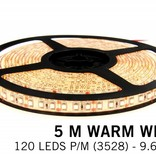 LED strip set, RF dimmable, warm white, 5 m 600 leds type 3528 - 48W - 12V