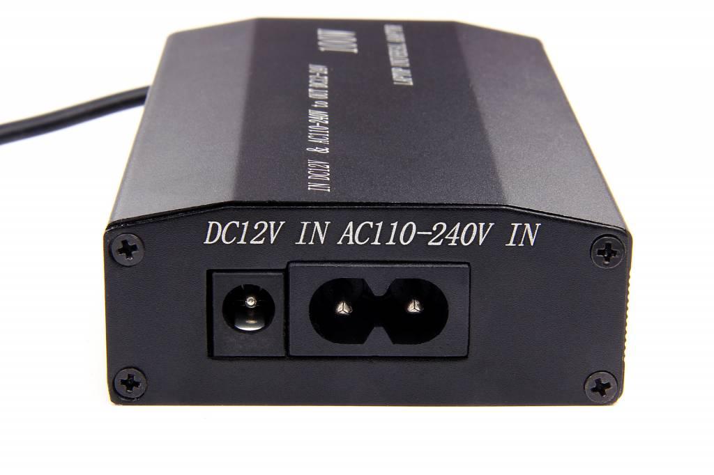 Universal adapter DC 12-24Volt 100Watt