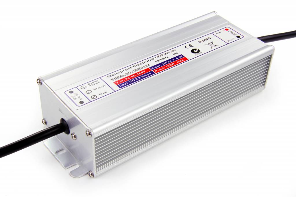 Waterproof power supply DC 12V 100Watt 8.3Amp