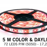 RGBW Color & cool white LED strip 72 p.m. - 5M type - 5050 - 12V - 17,2W pm