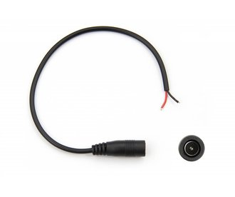 DC 5,5mm x 2.5mm jack female pigtail connector 20cm