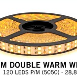 Warm White Ledstrip 2400K, double row 5050, 28.8W P/M 12V