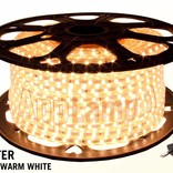 50 meters waterproof LED strip 220 Volt, warm white