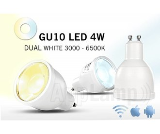 Remote controlled GU10 dimmable LED spotlight, Dual White, RF, 4W