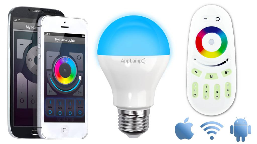 AppLamp Wifi kit + Full Color 6 Watt RGBW LED bulb
