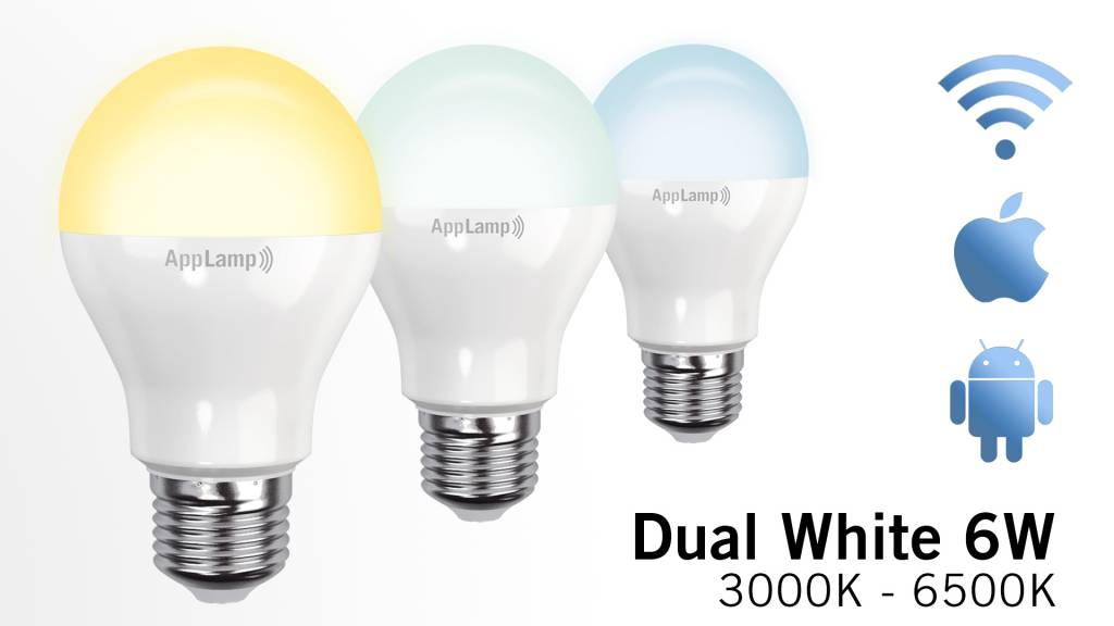 Dual White Wifi LED bulb (6W LED)