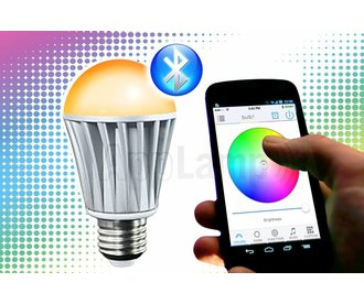 LED Magical Bluetooth LED bulb 16M colors and warm white, wake-up light (V2)