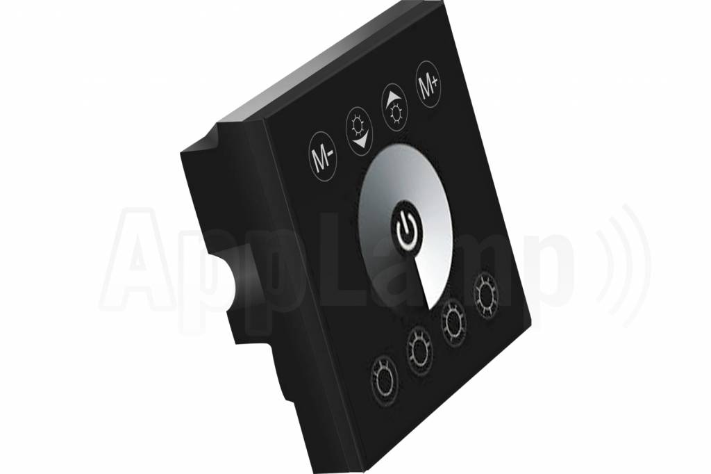 led strip recessed wall dimmer touch panel 12 24v black. Black Bedroom Furniture Sets. Home Design Ideas