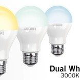 AppLamp Set of 10 E27 Dual White 6W LED bulbs + Remote control