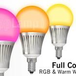 AppLamp Set of 2 RGBW 5 Watt E14 LED light bulbs + remote control