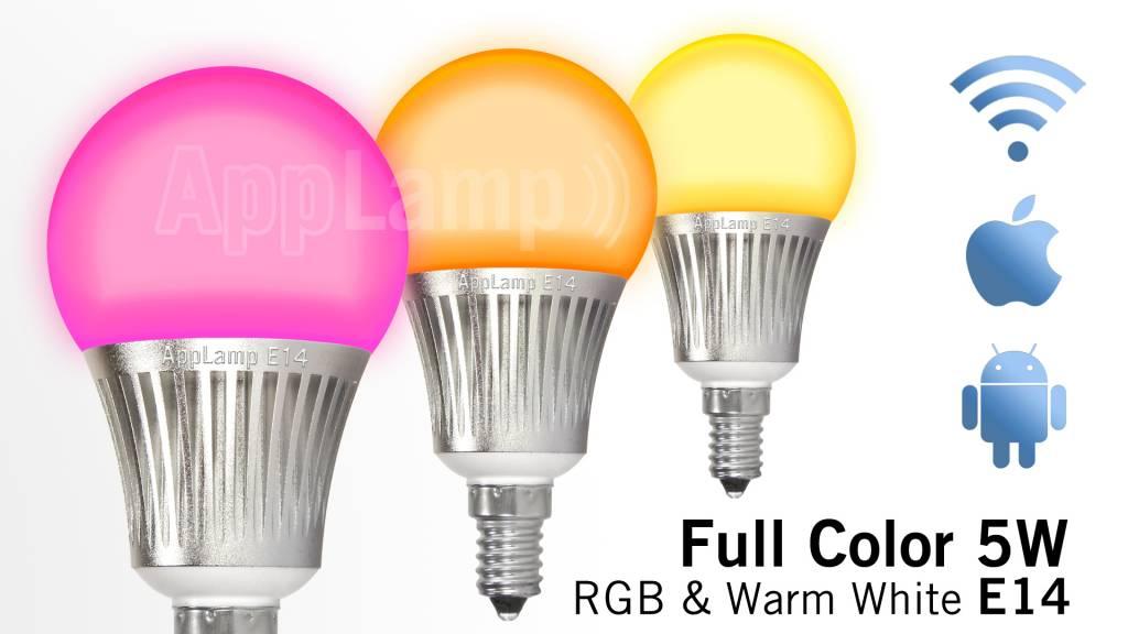 Applamp Set Of 8 Rgbw 5 Watt E14 Led Light Bulbs Remote Control