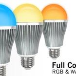AppLamp Set of 6 wireless Multicolor RGBW 9W LED bulbs + Remote control