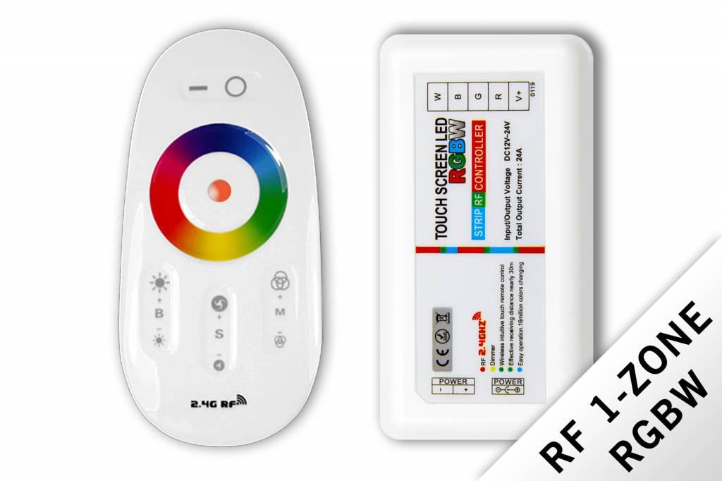 AppLamp RF RGBW LED strip controller + RF remote control 24A 12V