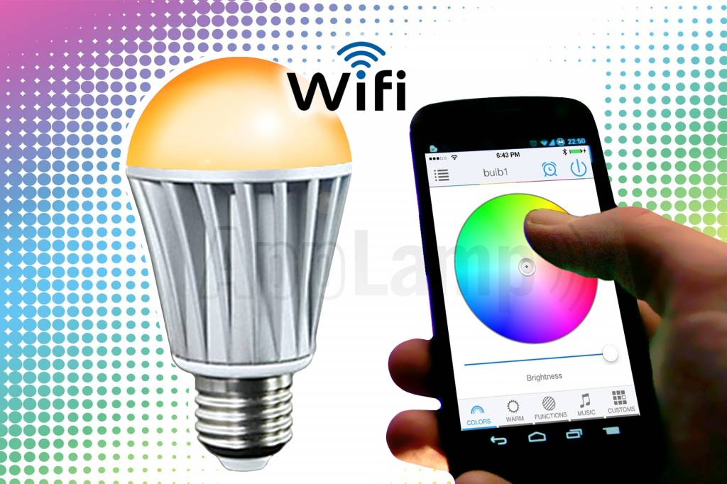 LED Magical Wifi LED bulb 16M colors and warm white, wake-up light (V2)