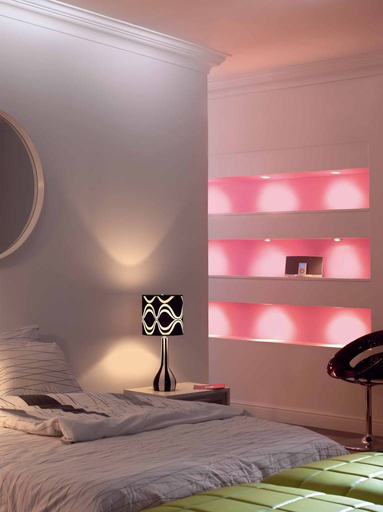 MR16 GU5.3 LED spot light, RGBW color and warm white, 12V AC/DC, 2.4G RF, 4W