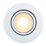AppLamp 6 Watt Dual White LED tiltable recessed downlight. 230Volt Driver/controller included. Satin gloss white