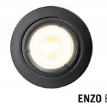 LED Recessed lighting trim ENZO, GU10 Fixture, Black round