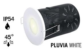 LED Recessed lighting trim PLUVIA, GU10 Fixture, White Round, IP54 Bathroom