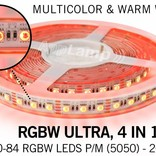 Wifi ULTRA RGBW LED strip with color + warm white, 4 in 1 LED pixel