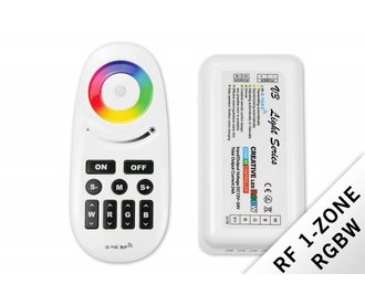 RF RGBW Creative 1-channel controller with remote control 24A