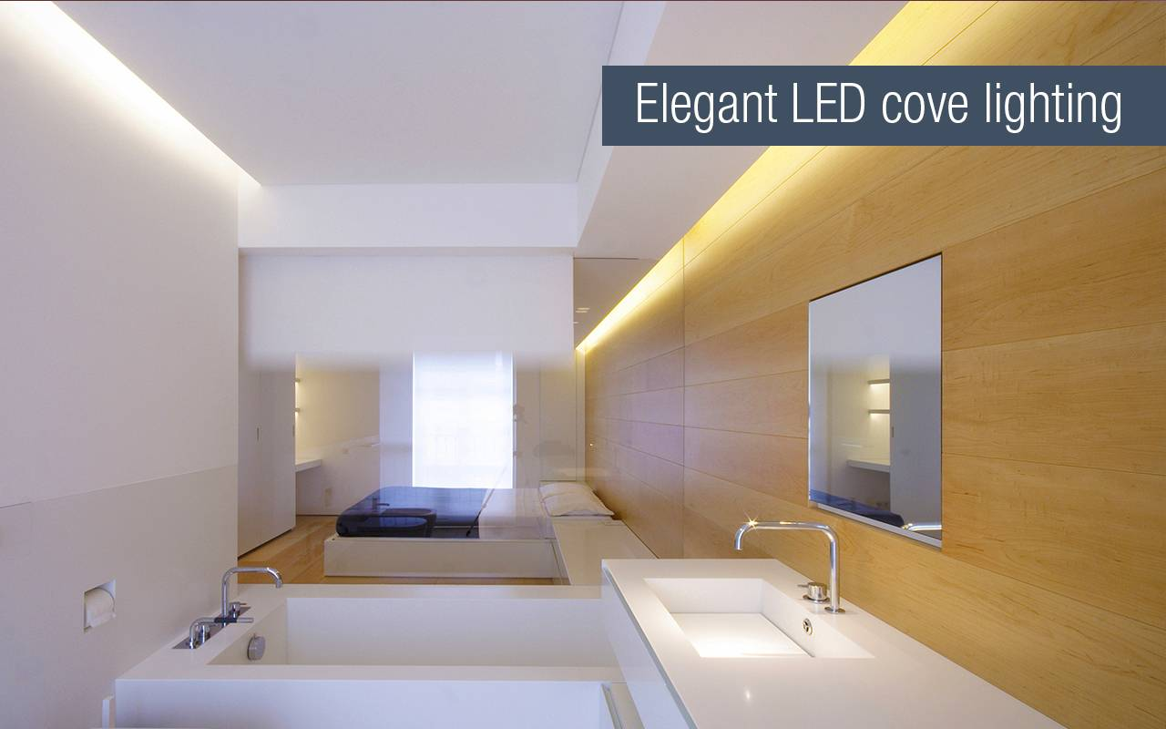 Bathroom cove led strip