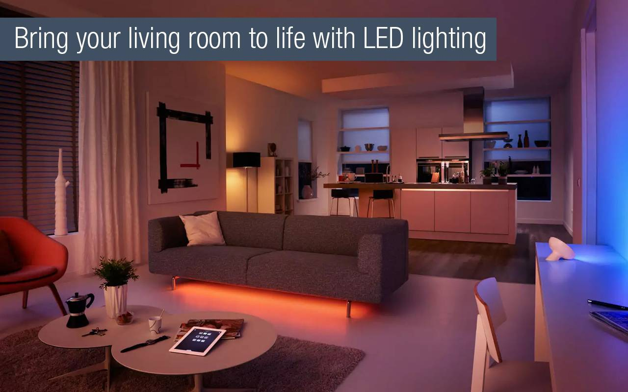 Lounge led colored lighting