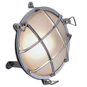 Bullseye wandlamp chroom 21,5cm Ø+voet