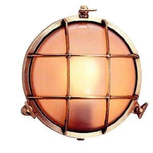 Bullseye wandlamp messing 21,5cm Ø+voet