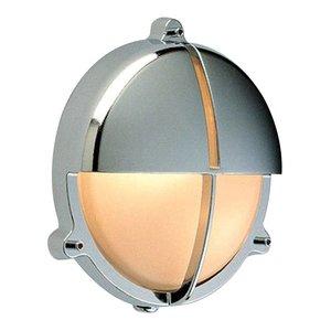 Scheepslamp Bullseye wandlamp Chroom 20 cm
