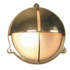 Scheepslamp Bullseye wandlamp messing 20cm