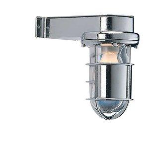 Bullseye wandlamp Scheepslamp chroom 22cm