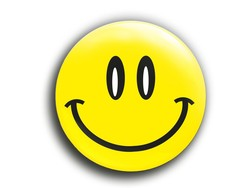 "Smiley Button ""Happy"""
