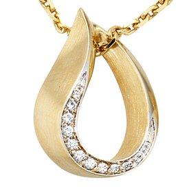 Gelbgold-Anhänger (585) mit Diamanten