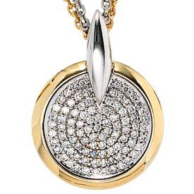 Diamant-Anhänger 585 Gelbgold-Weißgold