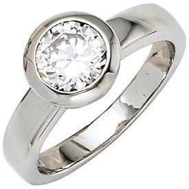 Eleganter Ring Sterlingsilber mit 1 Zirkonia