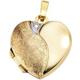 Medaillon Herz Gelbgold 333