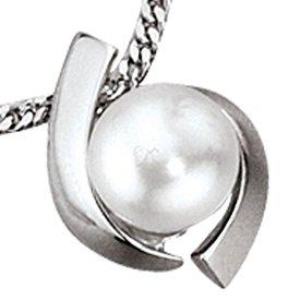 Anhänger Weißgold 333 mit Süßwasser-Perle