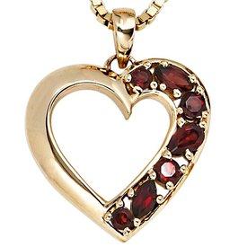 Herz-Anhänger Gelbgold 585, Granate