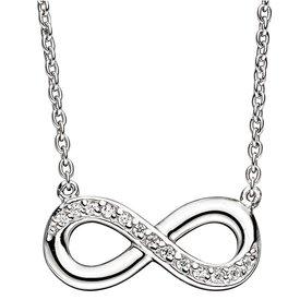 Collier Infinity Silber 925, Zirkonia
