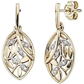 Diamant Ohrhänger Gelbgold 585