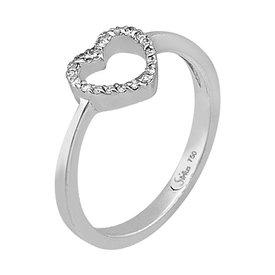 Diamantring Herz Weißgold 750